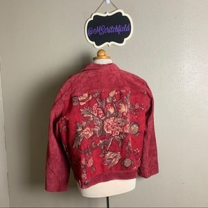 Chico's vintage tapestry jacket large or xl